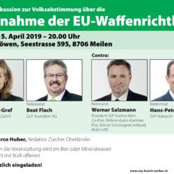 """Podiumsdiskussion """"Übernahme der EU-Waffenrichtlinie"""""""
