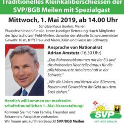 1. Mai Anlass im Schützenhaus Büelen mit Adrian Amstutz