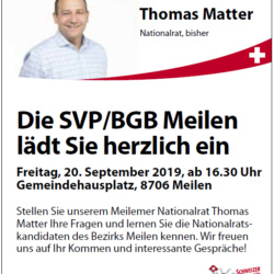 Wurst & Brot mit Thomas Matter