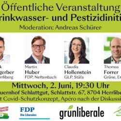 Öffentliche Podiumsdiskussion zur Trinkwasser- und Pestizidinitiative