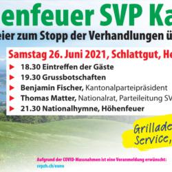 Höhenfeuer SVP Kanton Zürich