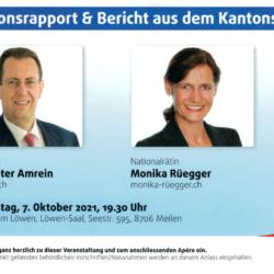Sessionsrapport & Bericht aus dem Kantonsrat 7.10.2021